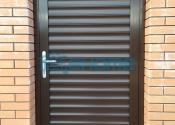 дверь с роллетным профилем